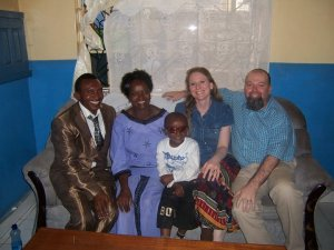 Autumn and Michael visit with Amos and Miriam in Nairobi